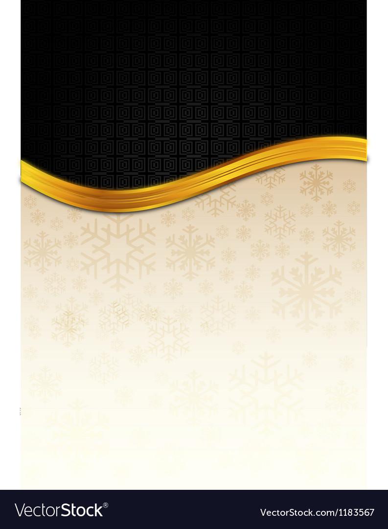 The black celebration paper with golden stripe