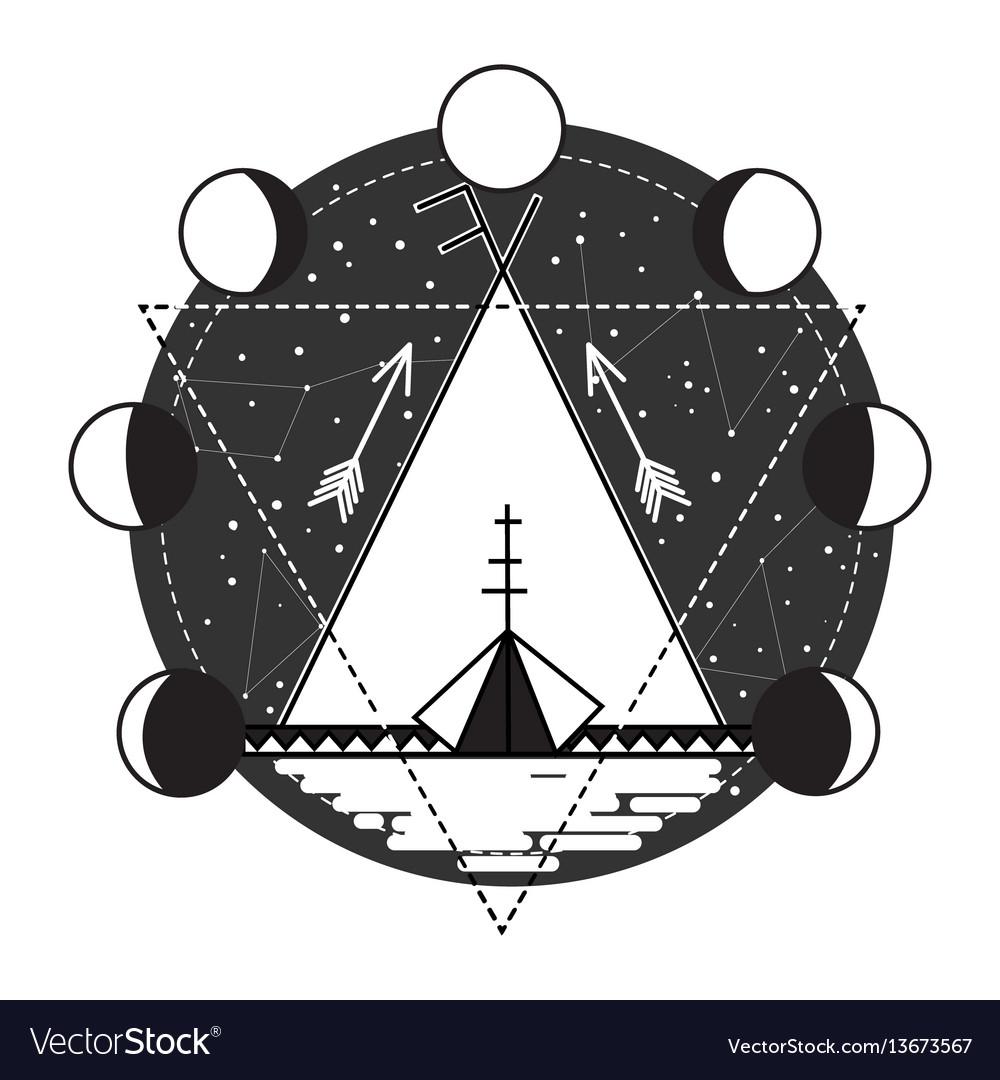 Wigwam abstract tattoo design