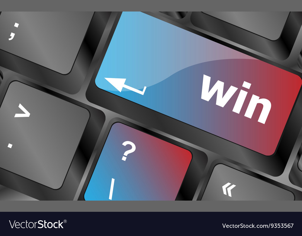 Win word on computer keyboard key button