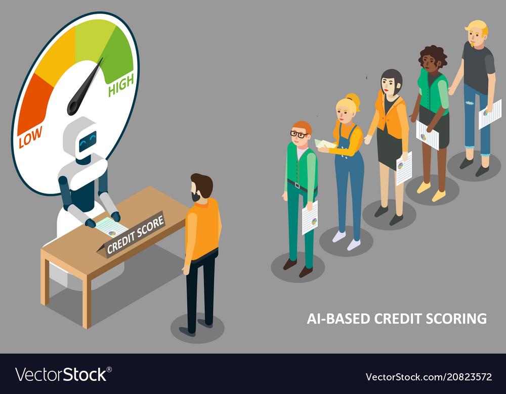 Ai credit scoring isometric