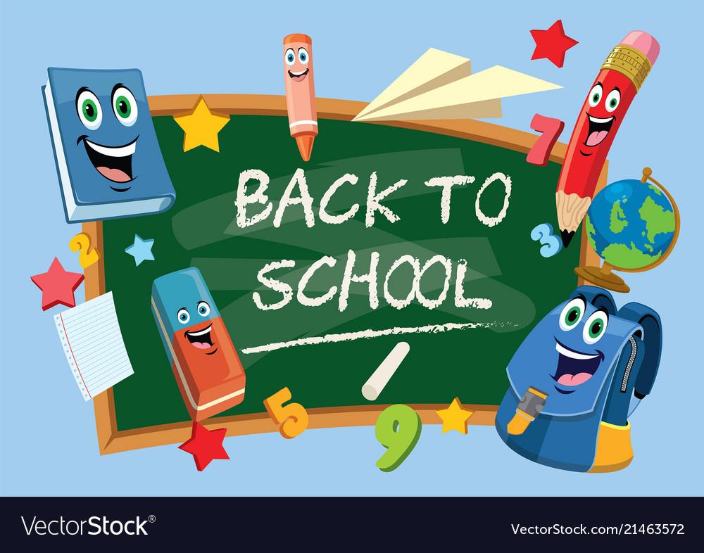 Back to school chalkboard.