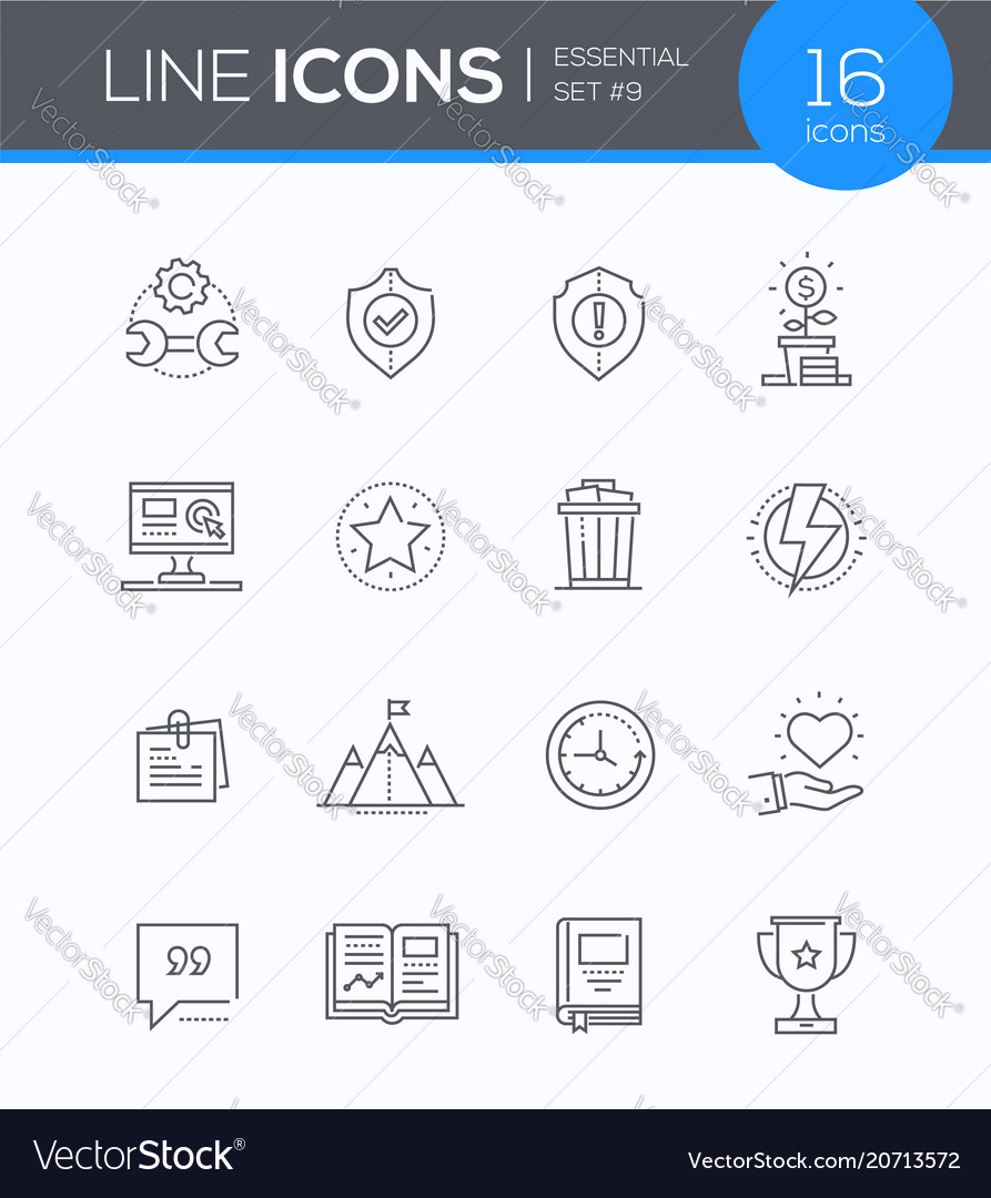 Business concepts - modern line design style icons