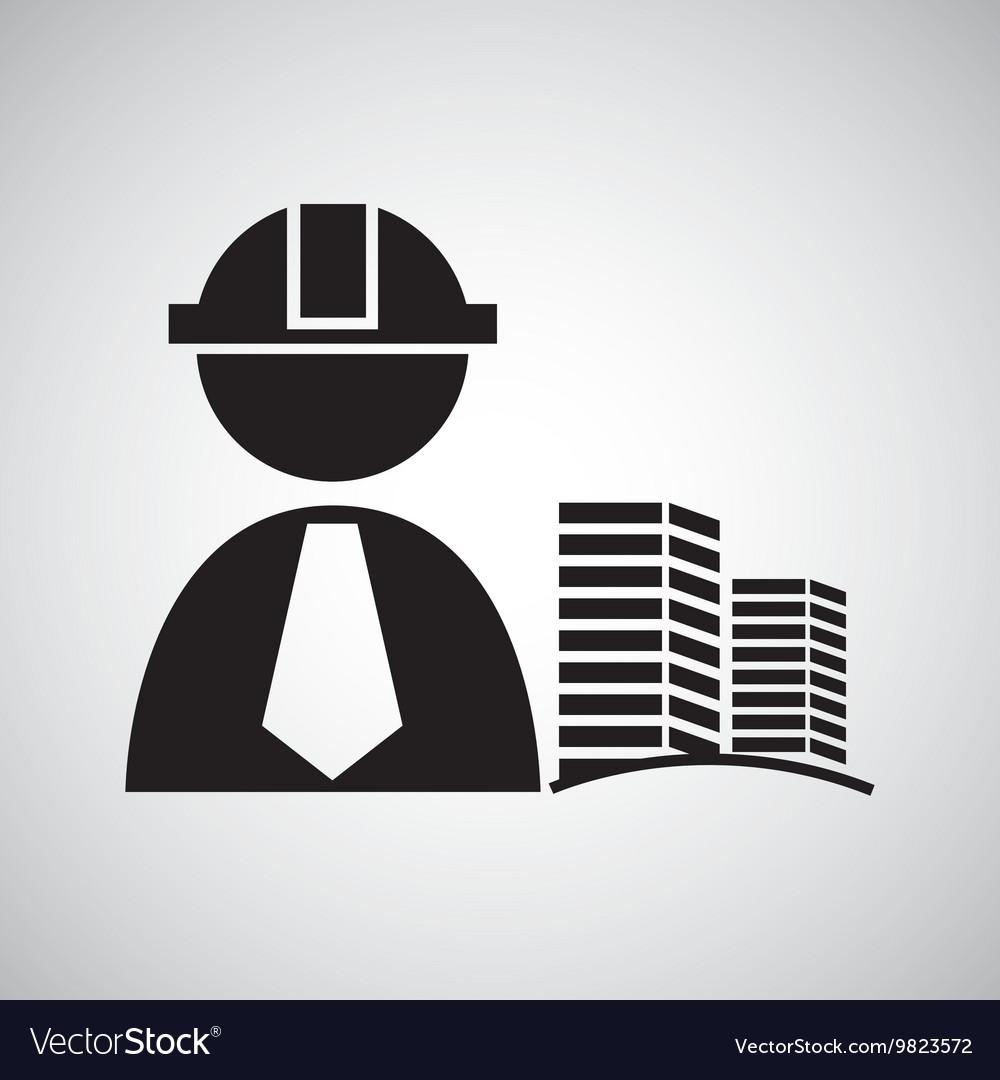 Civil Engineering Icon Royalty Free Vector Image