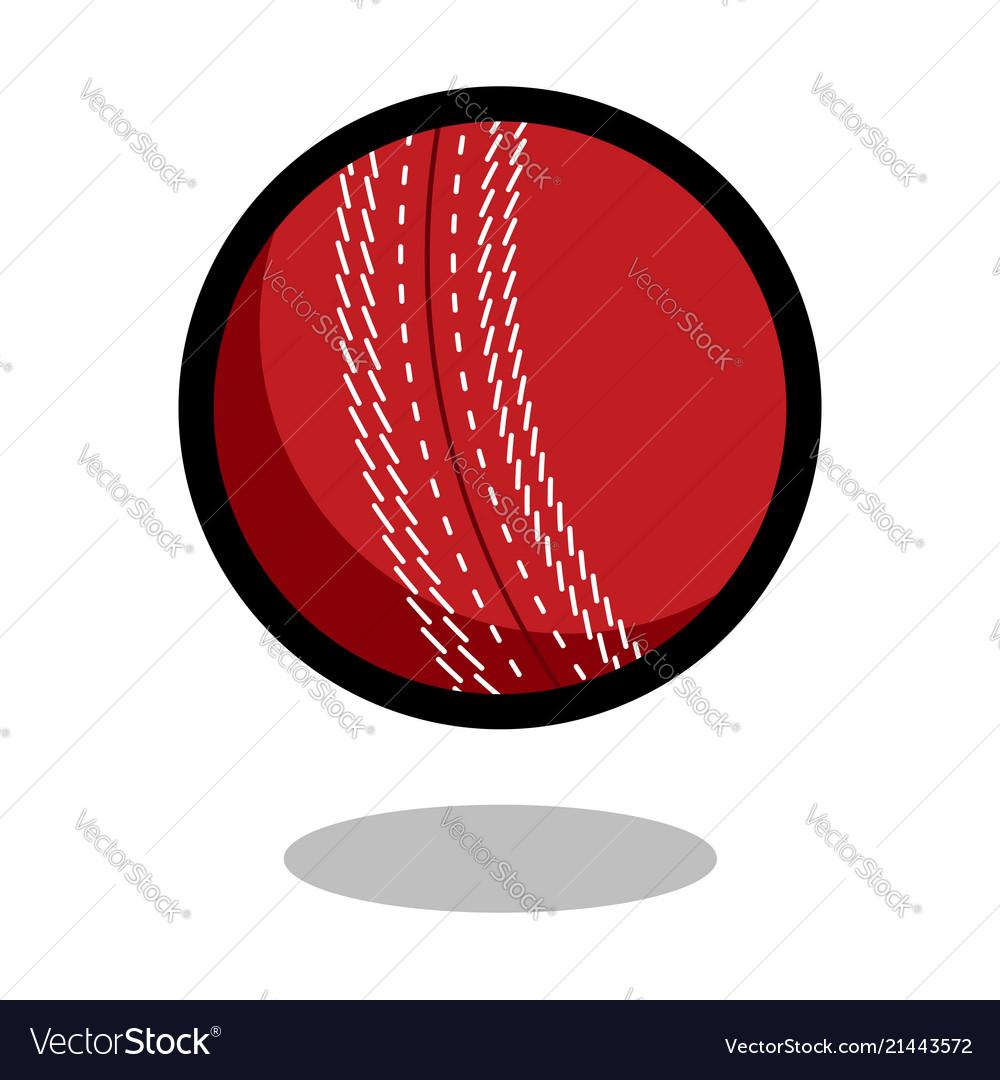 Cricket sport ball logo line 3d icon