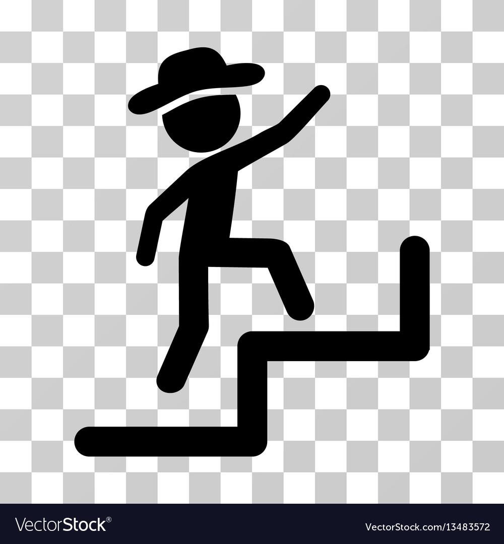 Gentleman steps upstairs icon