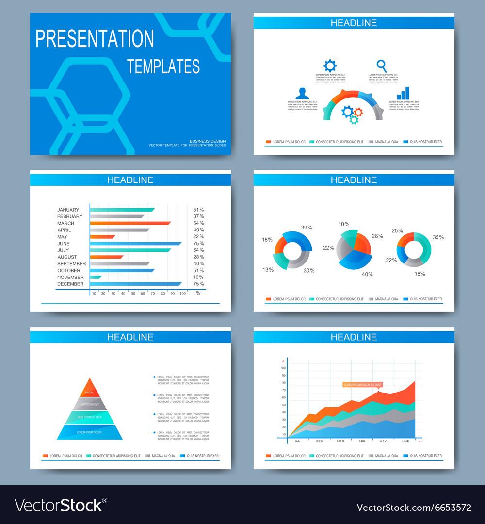 Set of templates for presentation slides