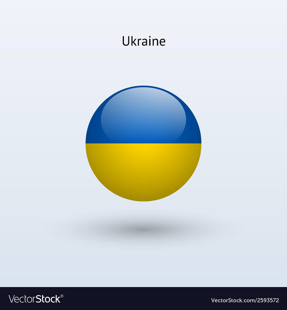 Ukraine round flag
