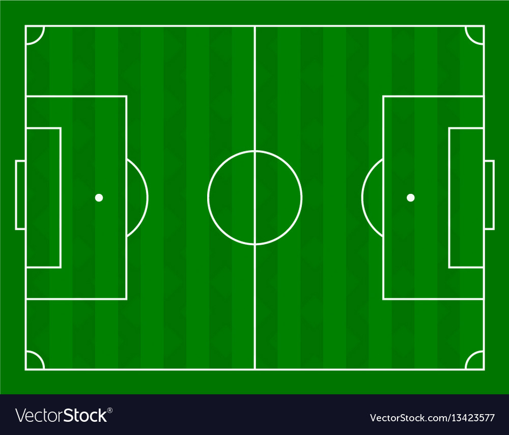 A football field vector image