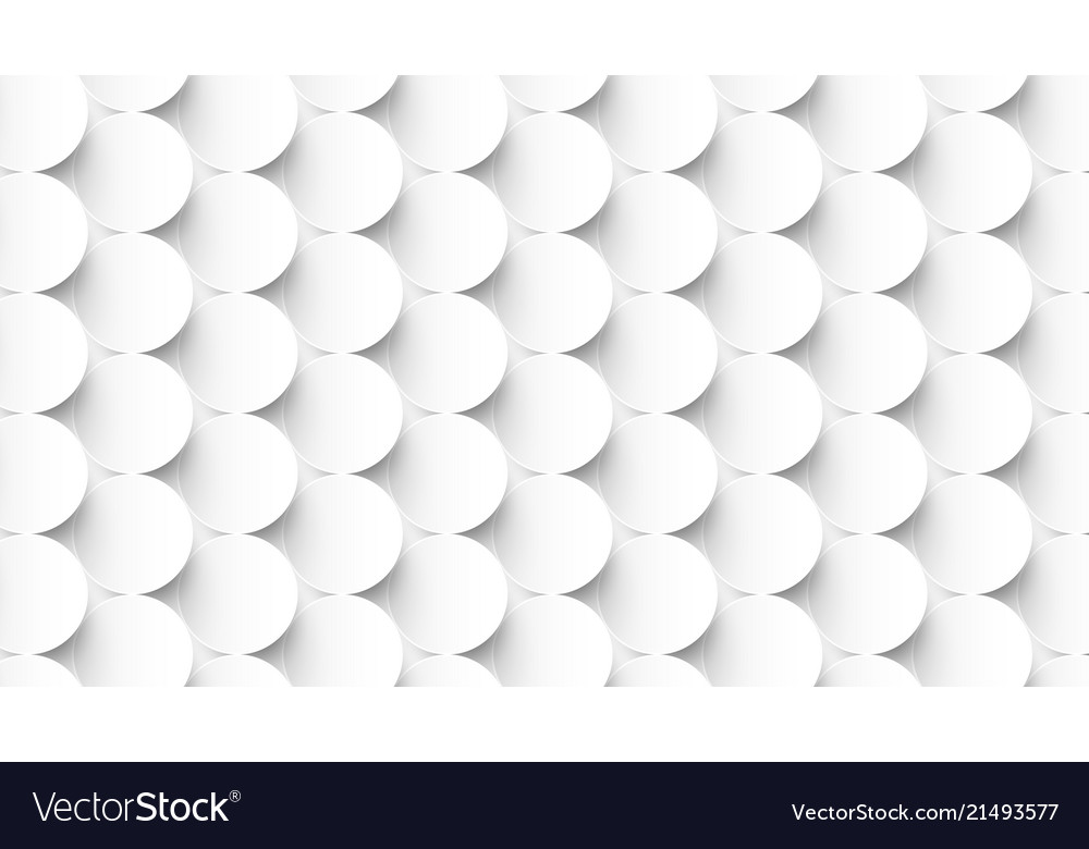Abstract white circles repeating pattern