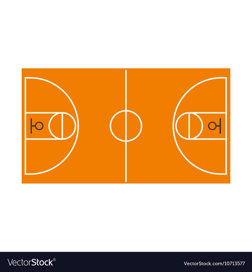 Basketball field icon flat style