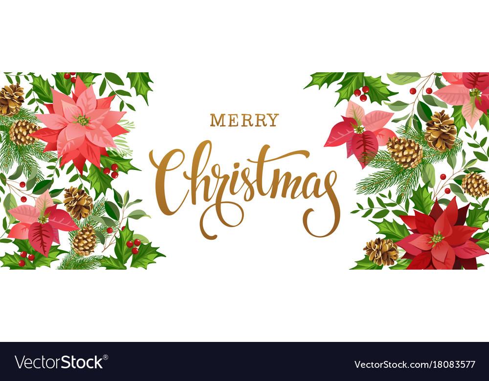 Christmas banner white vector image