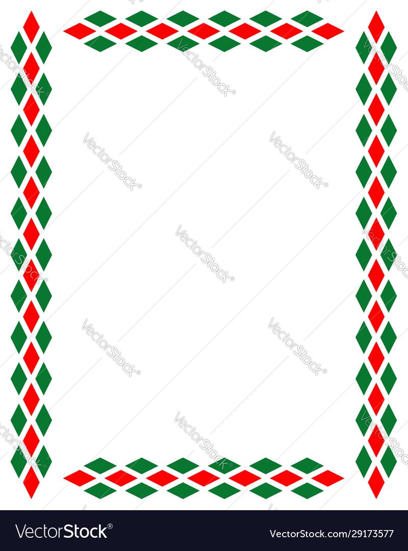 Decorative art italian frame pattern
