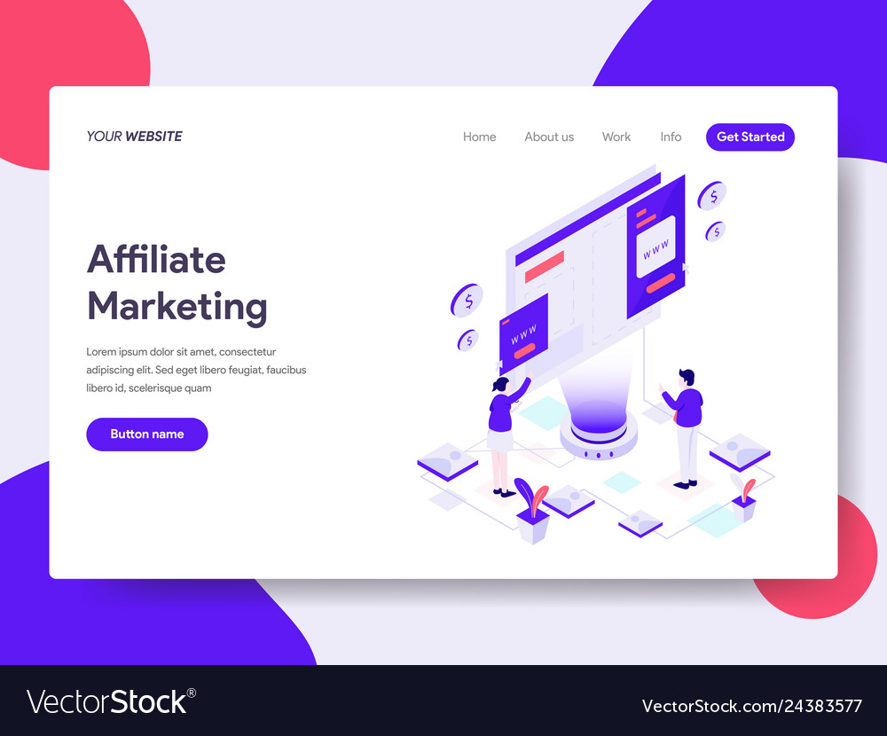Landing page template affiliate marketing