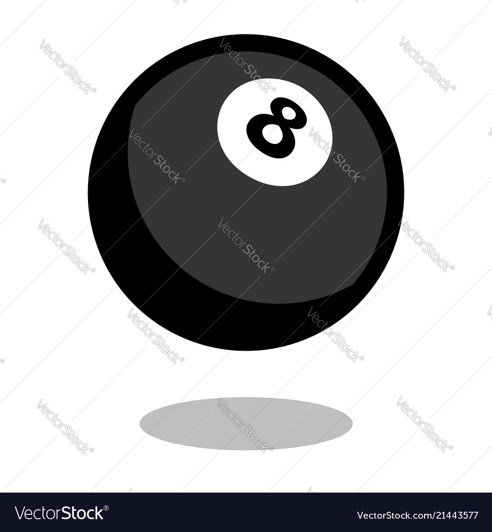Pool snooker billiard cue sport ball logo line 3d