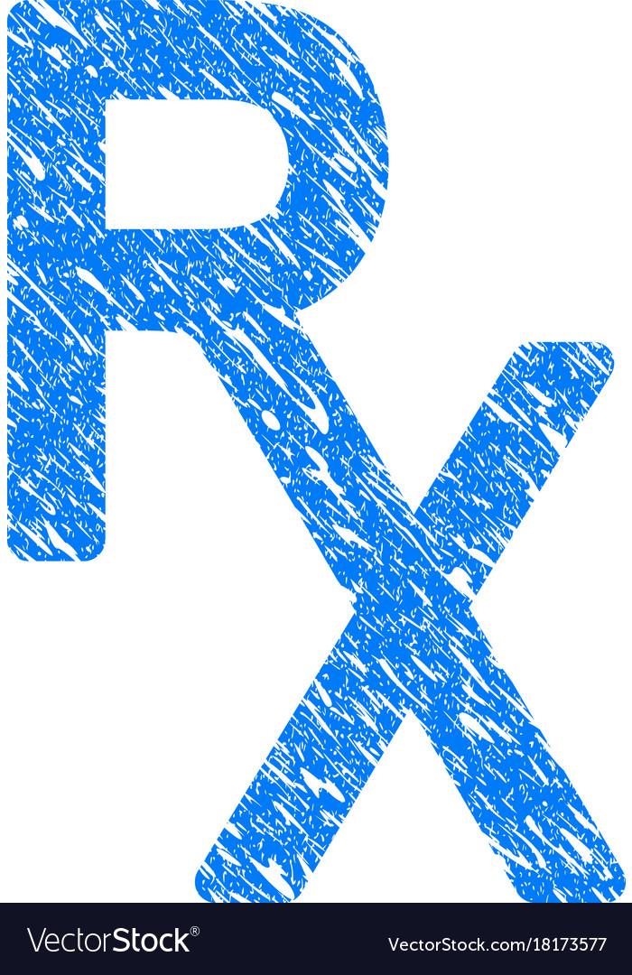 Rx Medical Symbol Grunge Icon Royalty Free Vector Image