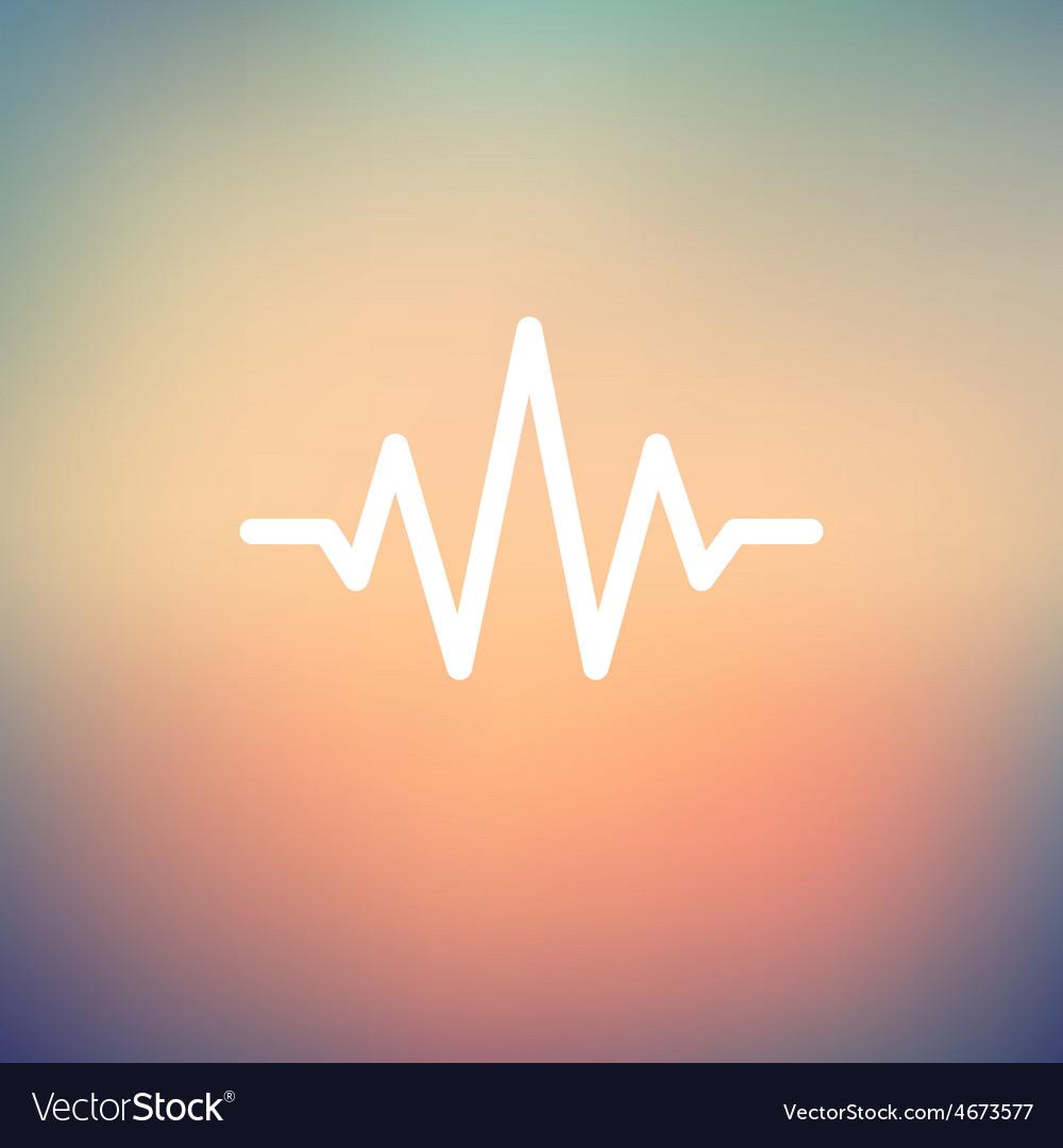 Sound wave beats thin line icon