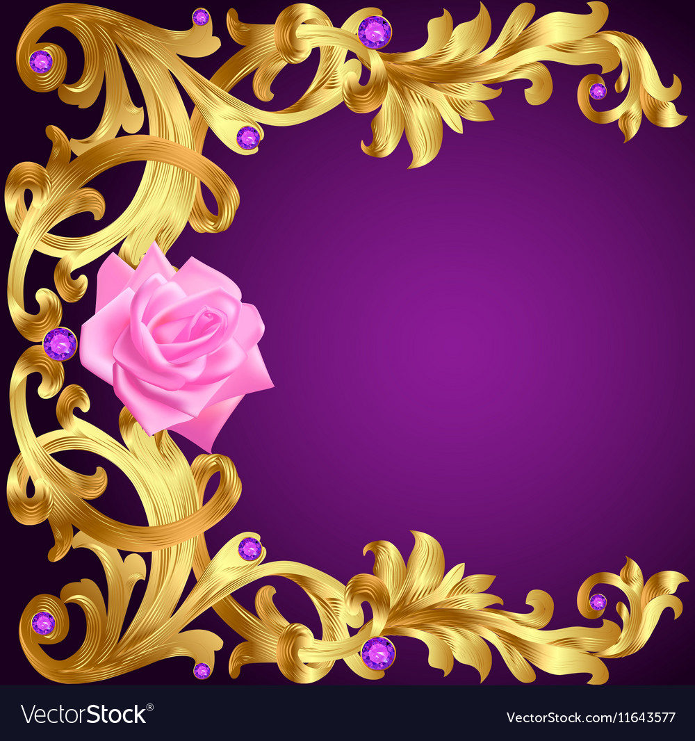 2019 year lifestyle- Flower gold background