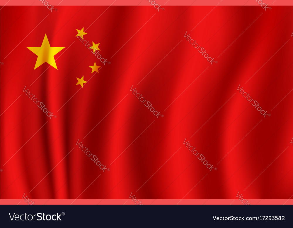 Flag of china in 3d format