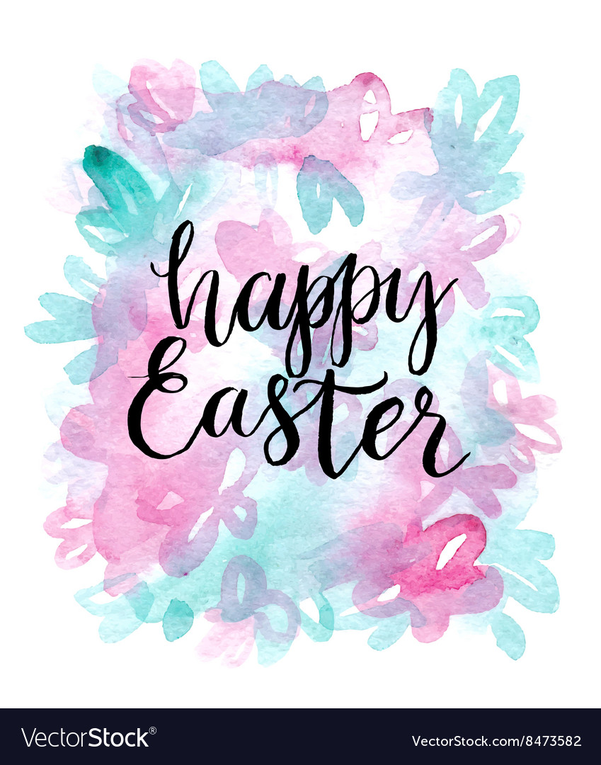 Happy easter cards with font