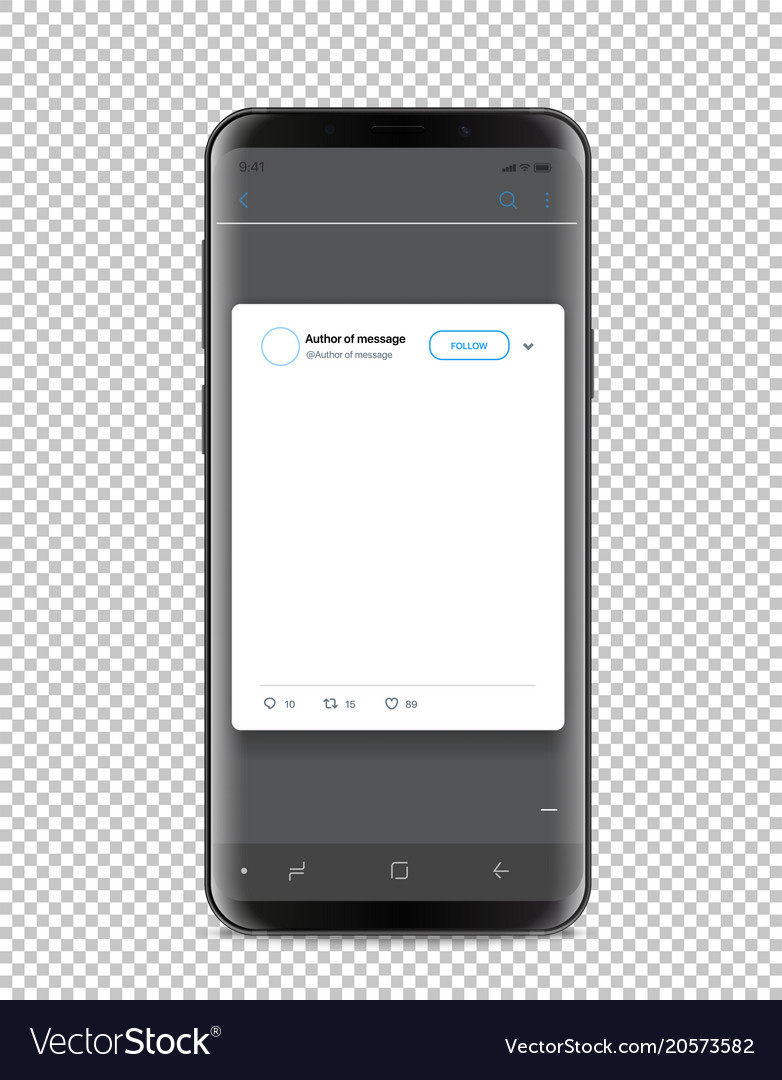 Modern Smartphone Template With Social Media Post Vector Image - Template for social media posts