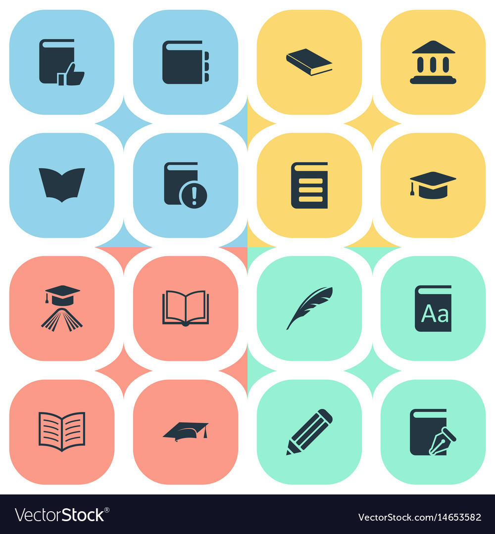 Set of simple books icons