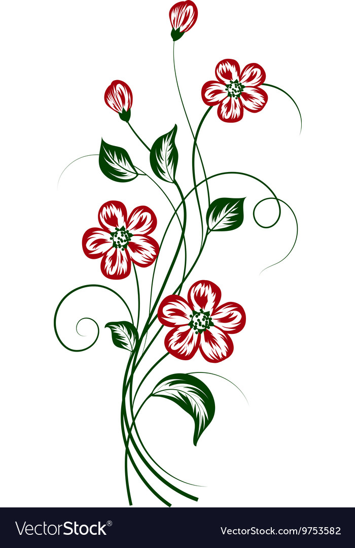 Simple floral background
