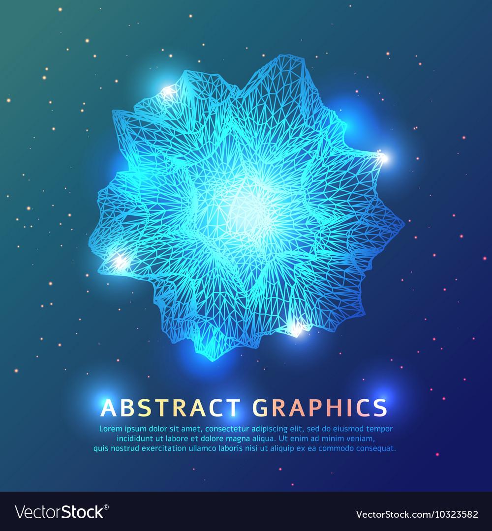 Triangular geometric shape background vector image