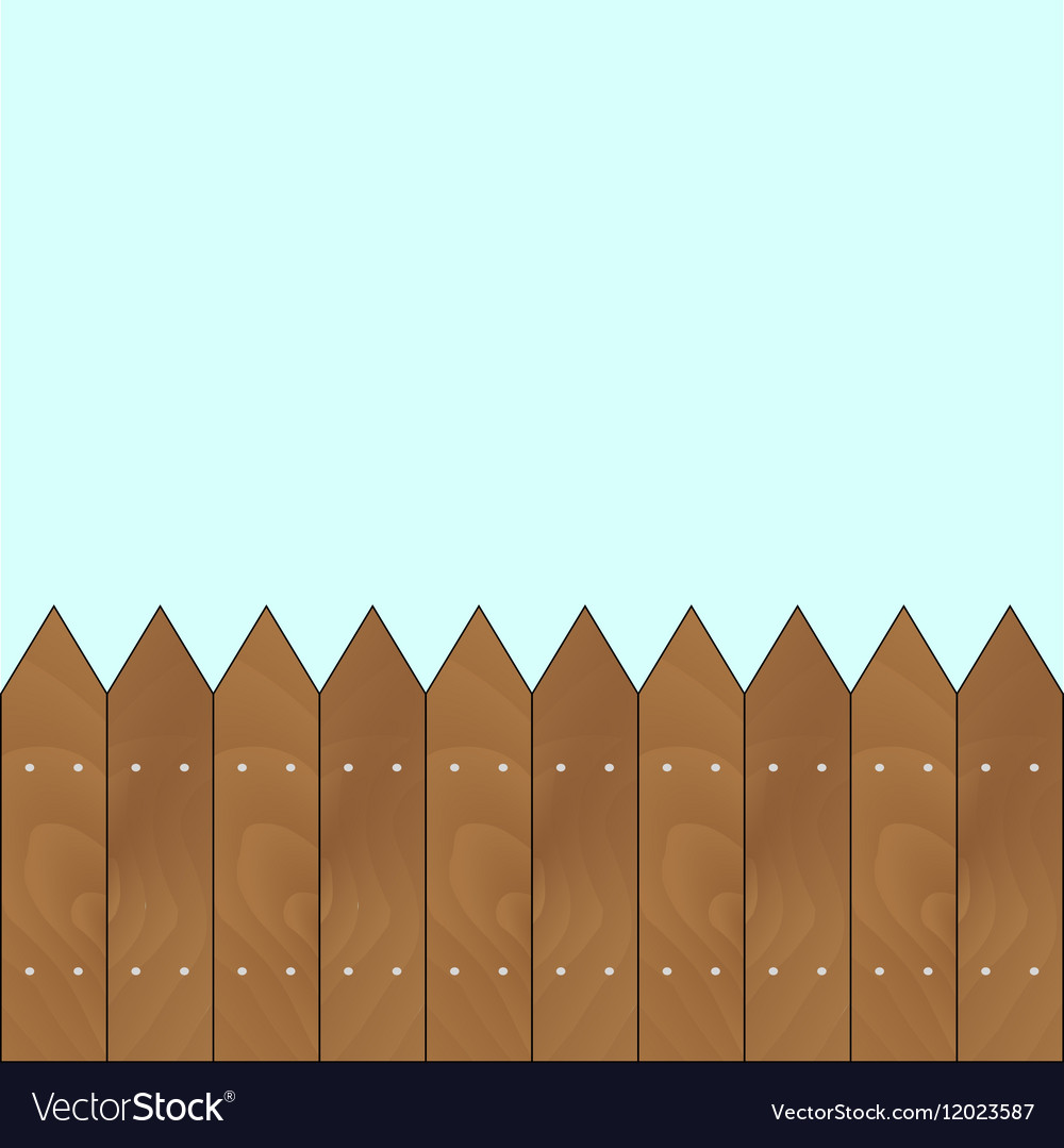 Banner with sharp wooden fence