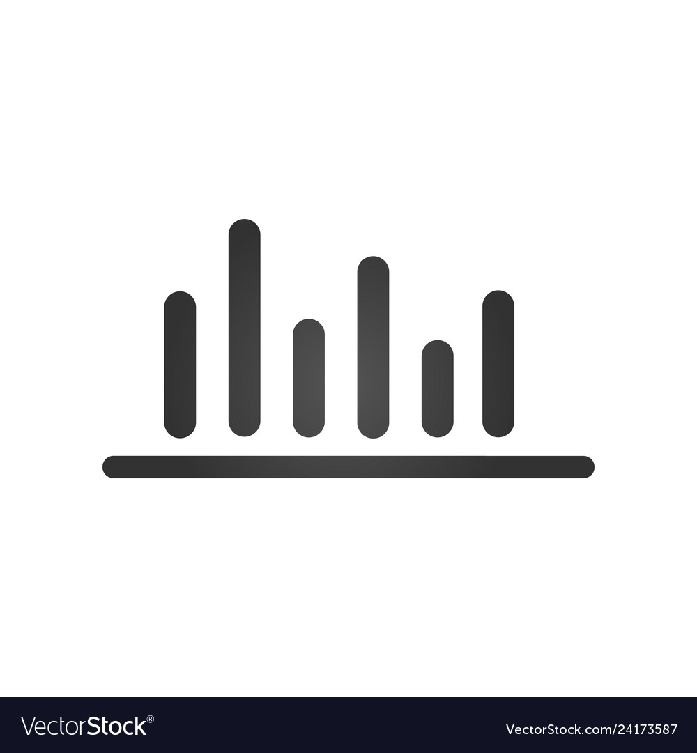 Bar chart bussiness financial icon isolated on