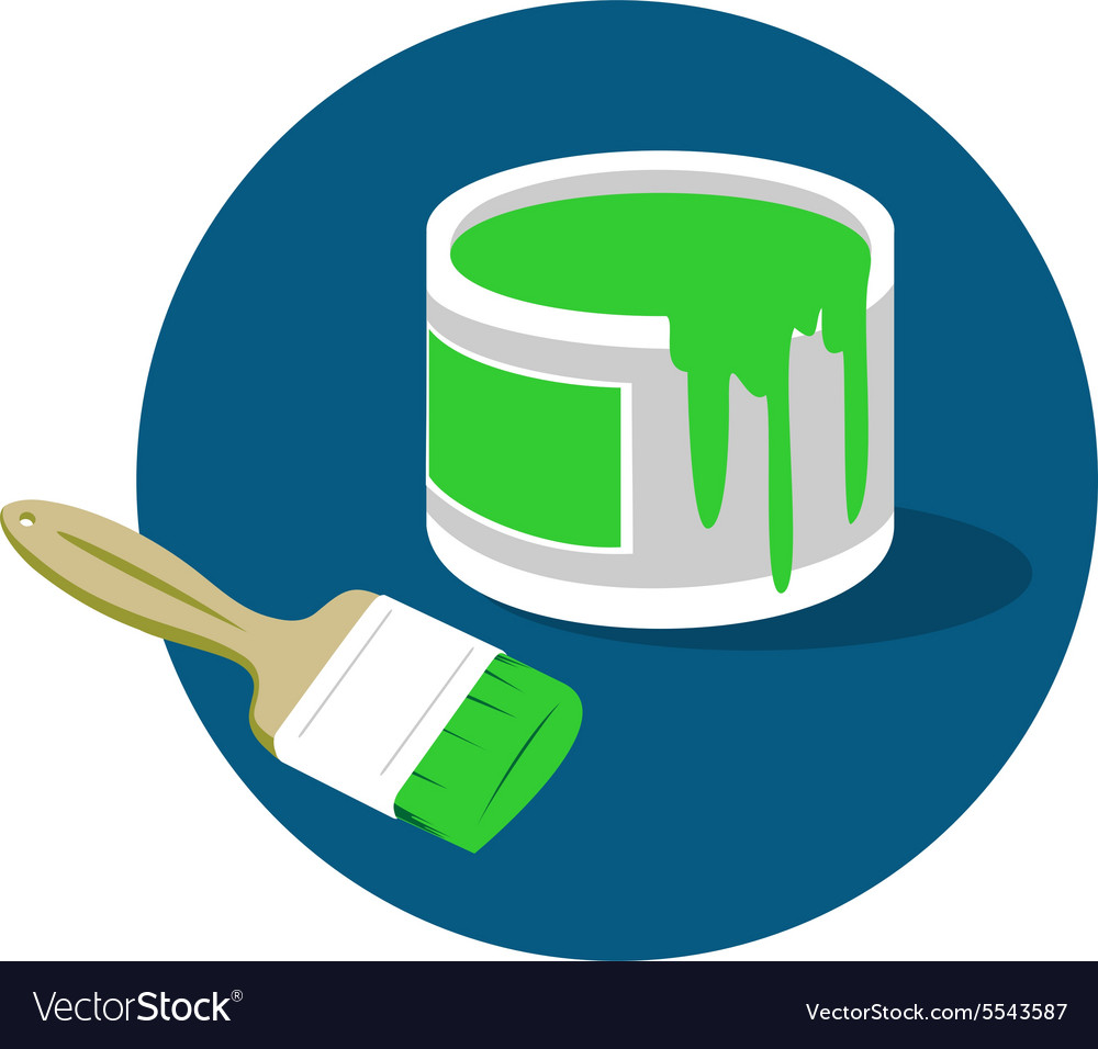 Brush paint bucket logo