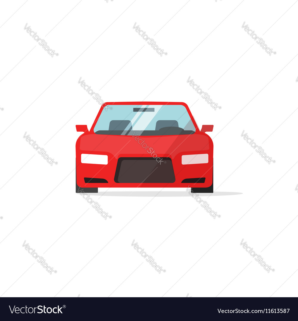 Car Icon Red Color Auto Isolated Royalty Free Vector Image
