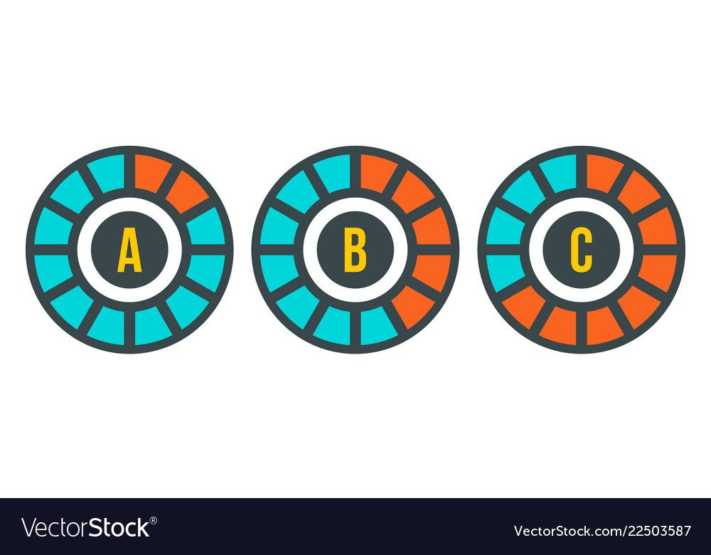Circle graph chart icon flat style