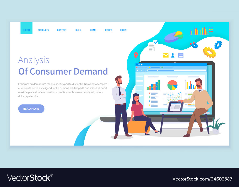 Customer demand website template analysts work