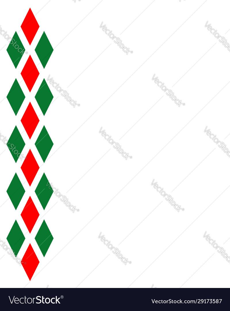 Decorative italian ornament with diamonds