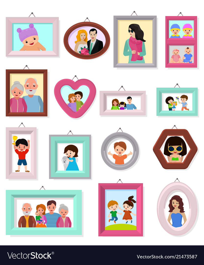 Frame framing picture or family photo for
