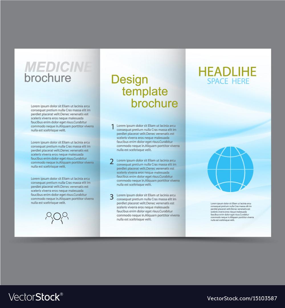 Medicine template design brochure vector image
