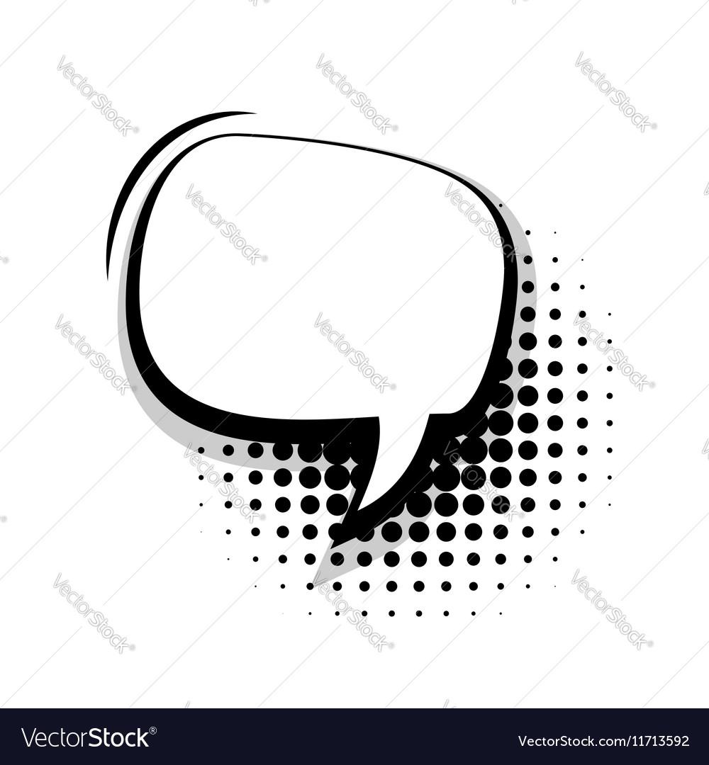 Blank template comic speech oval simple bubble