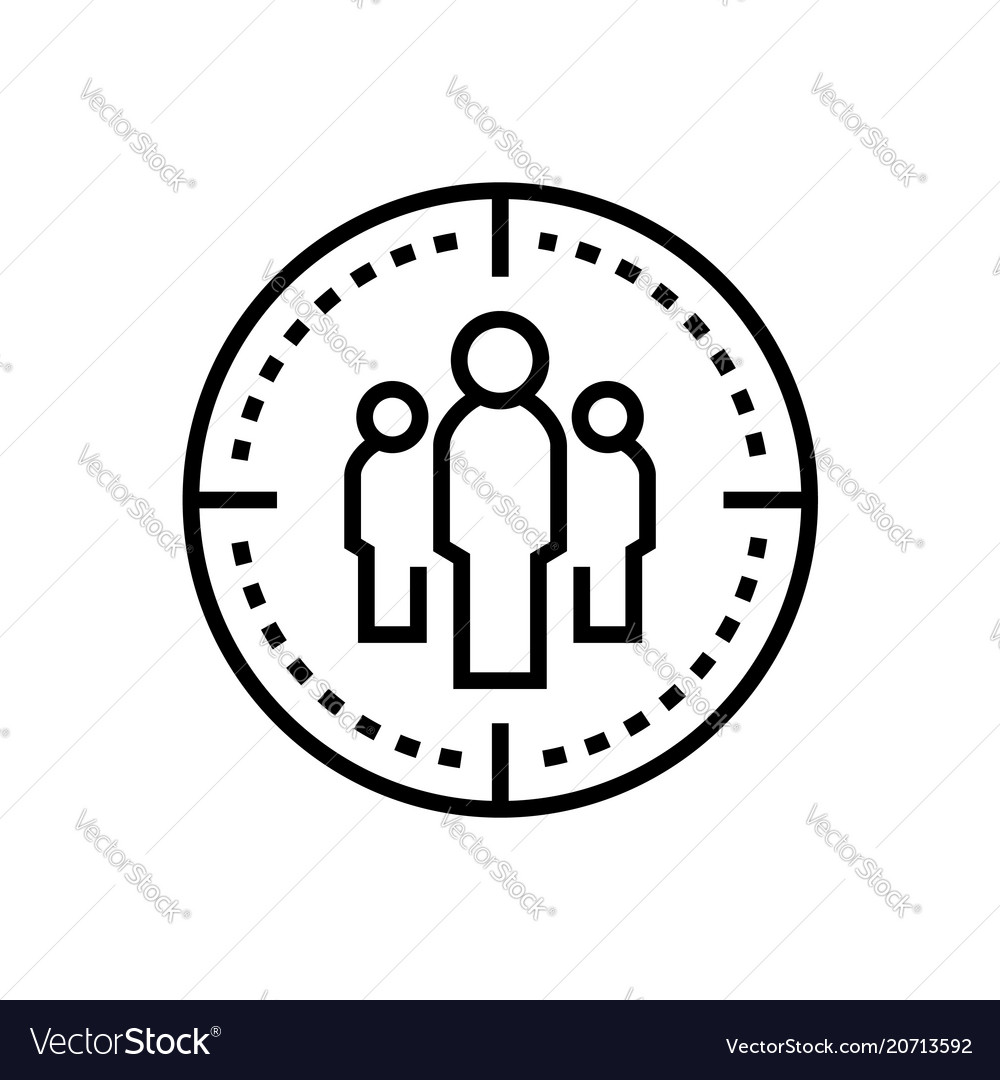 Business team - line design single isolated icon