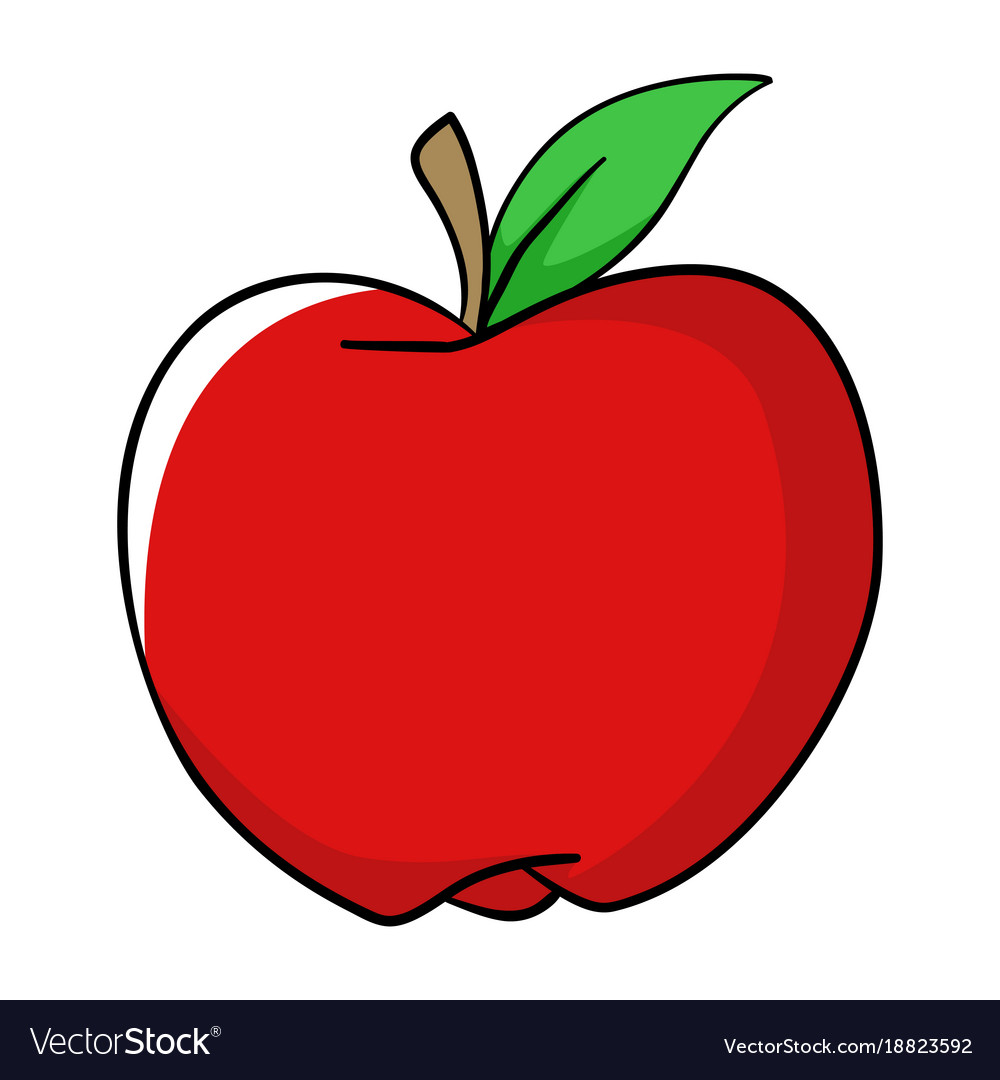 cartoon of an apple royalty free vector image vectorstock rh vectorstock com cartoon apples images cartoon apples images