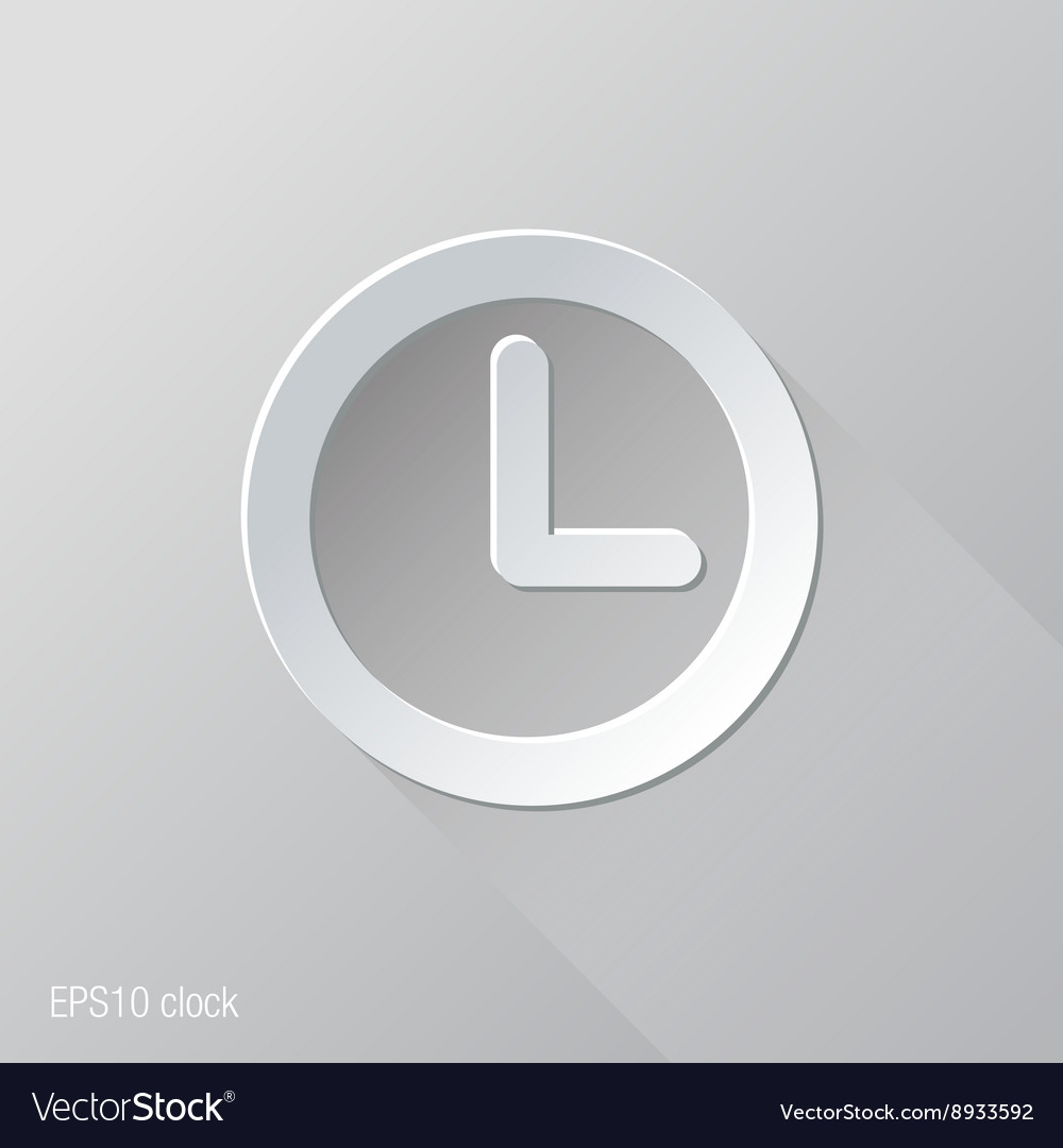 Clock Flat Icon Design