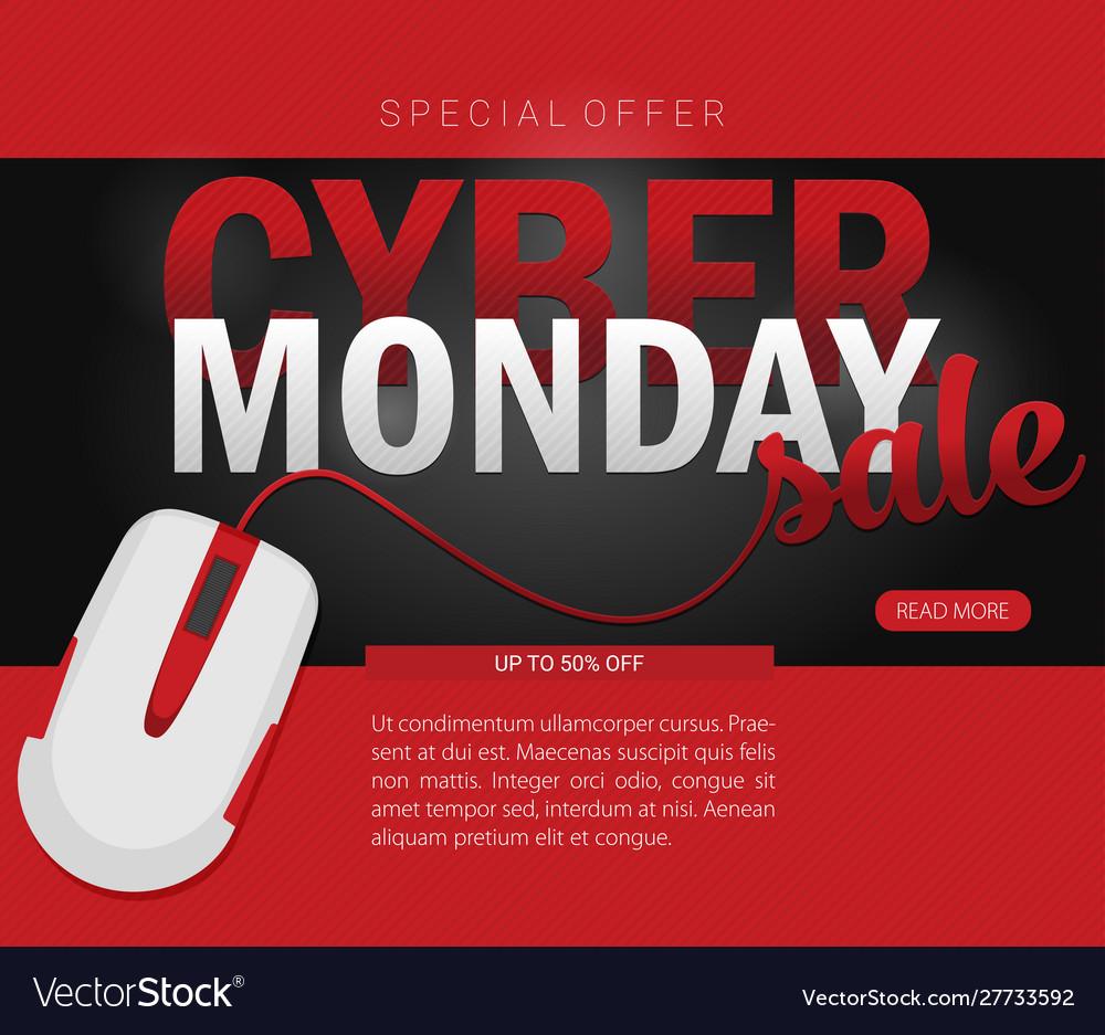 Cyber monday background design eps 10