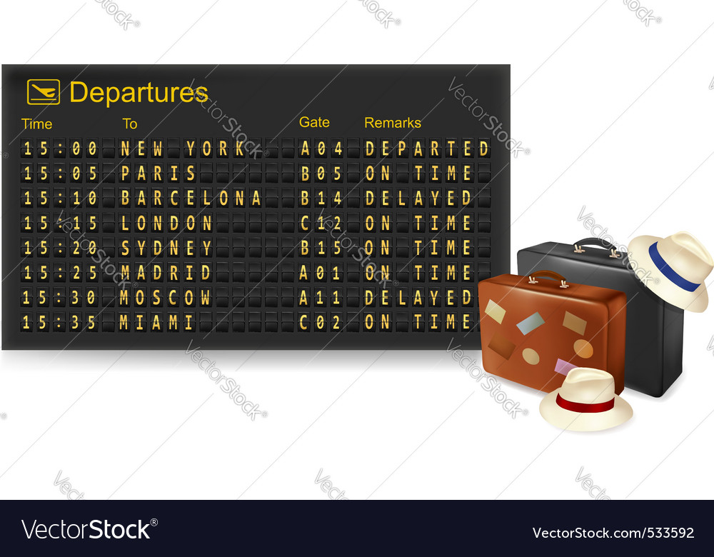 Departures and travel bags