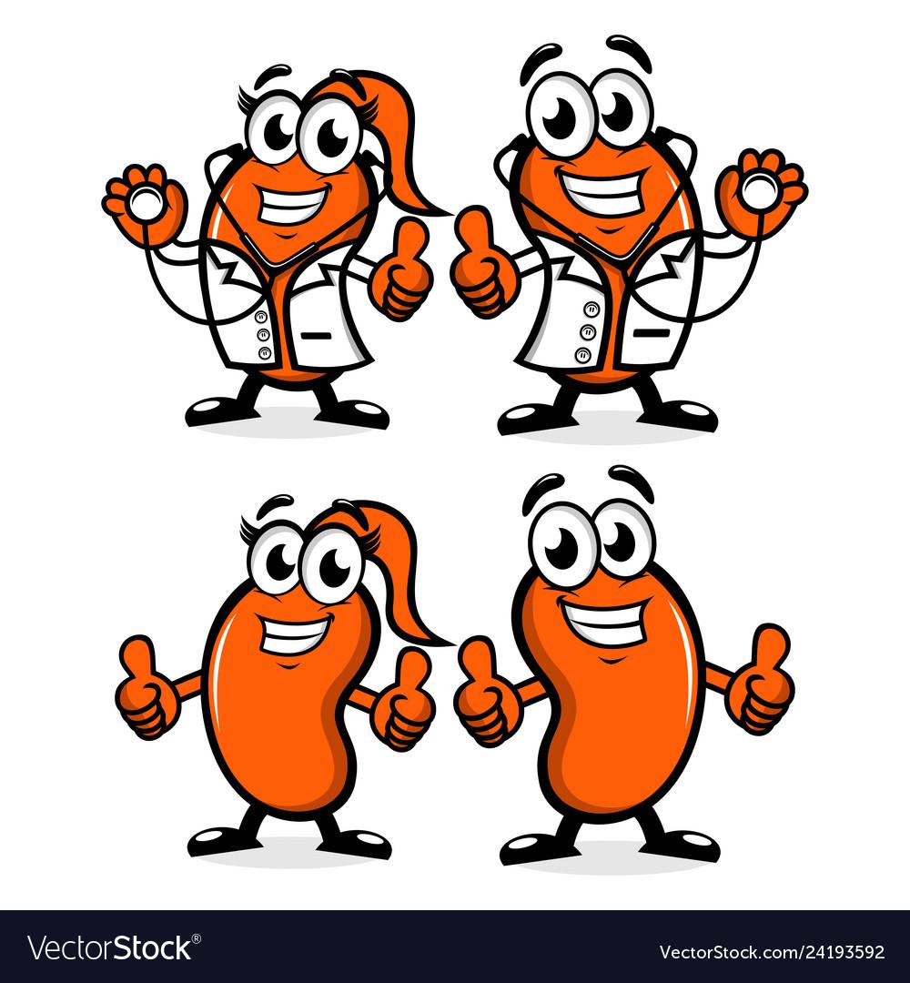 Doctor kidney mascot logo