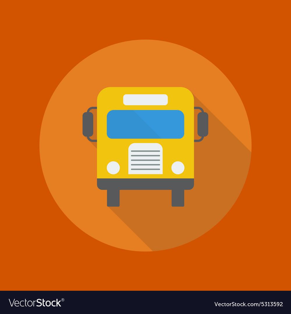 Education Flat Icon School Bus