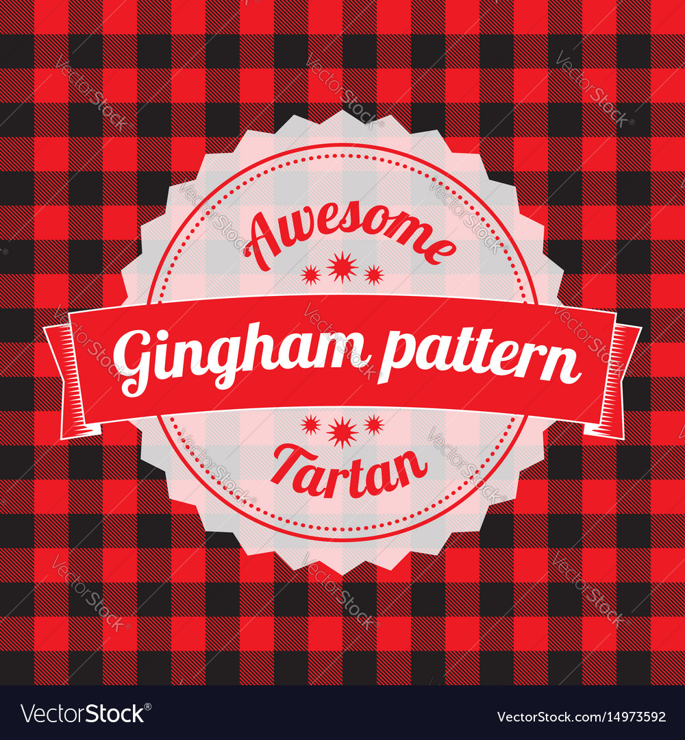 Gingham pattern checkered seamless background