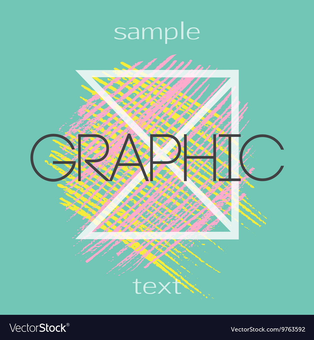 Graphic design backgrounds Creative universal vector image