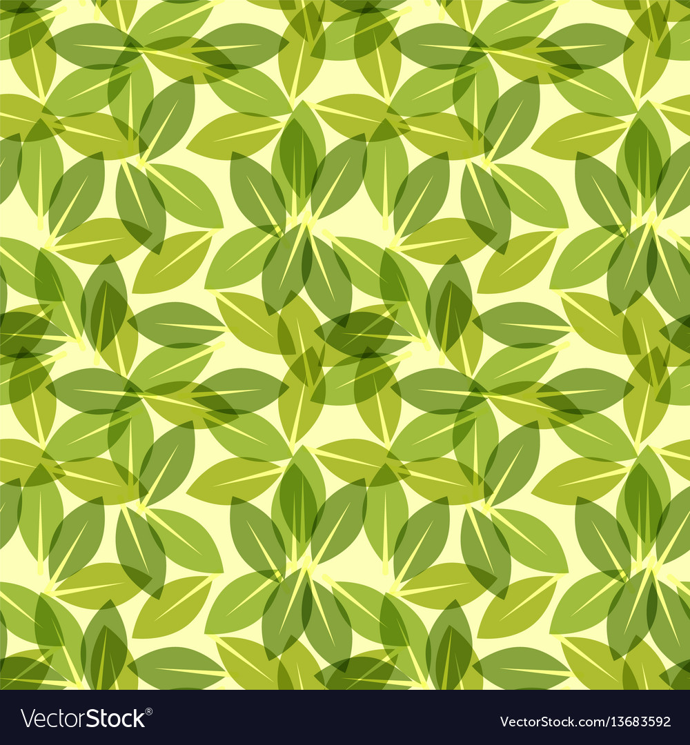 green leaf spring wallpaper elegant fresh foliage vector image