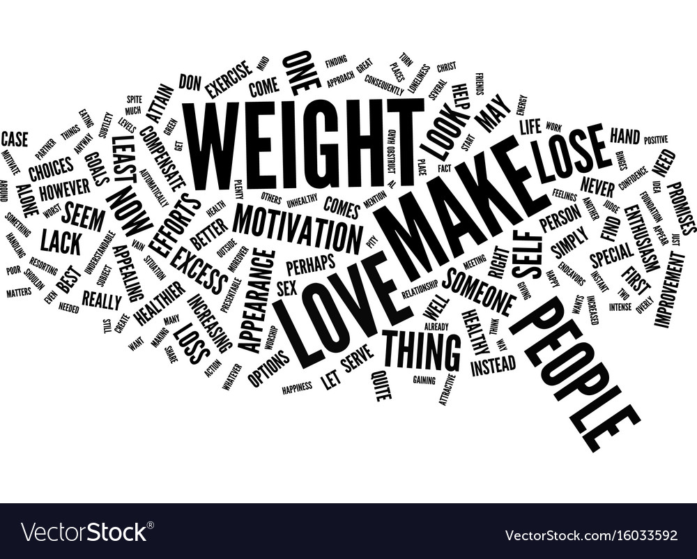 Love can make you lose weight text background