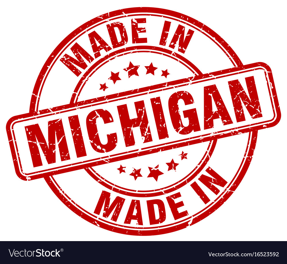 Made In Michigan >> Made In Michigan Vector Image