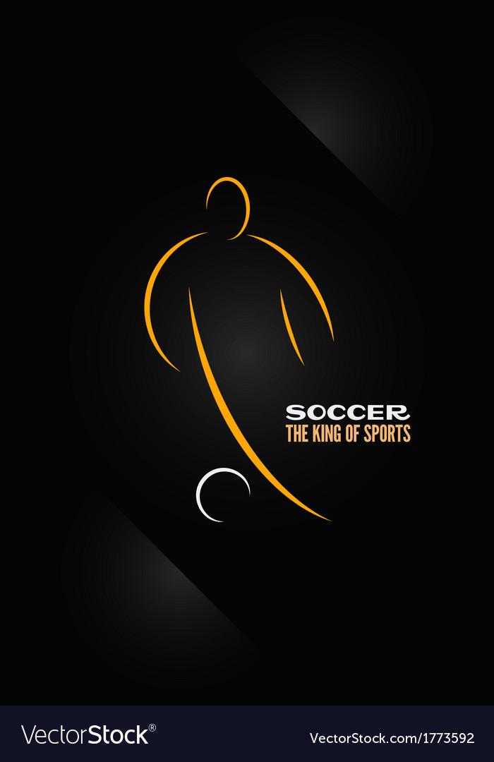 Soccer emblem symbol design background vector image